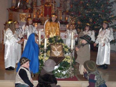 Foto zur Meldung: Schlafendes Christkind auf dem Kreuz