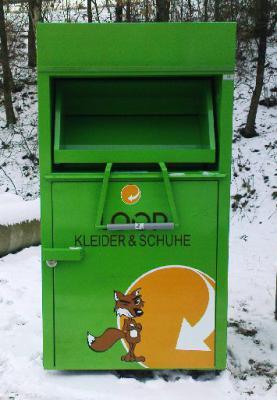 Foto zur Meldung: Kleider-/Schuhcontainer neu in Königsmoor