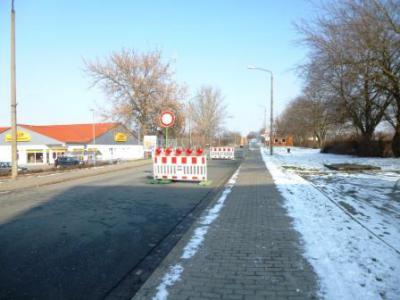 Foto zur Meldung: Brückenbau im OT Nachterstedt