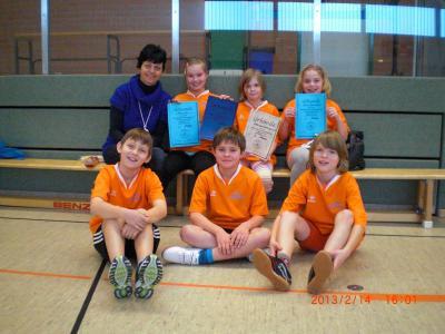 Foto zur Meldung: Viertklässler unserer Elbtalgrundschule beteiligten sich zum dritten Mal am 4. Havelberger Indoor-Rowing-Cup