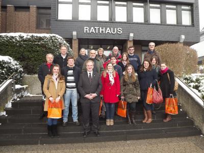 Foto zu Meldung: Brasilianische Deutschlehrerstudentinnen und -studenten zu Gast im Rathaus Rheinböllen