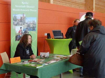 Foto zu Meldung: Der Tourismusverein war bei der Tourismusgalerie in Sewekow dabei
