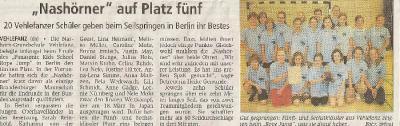 """Foto zur Meldung: """"Nashörner"""" auf Platz fünf"""