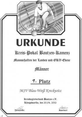 Foto zur Meldung: Kreispokal Bautzen - Kamenz