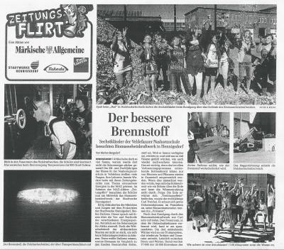 """Foto zur Meldung: MAZ Zeitungsflirt """"Der bessere Brennstoff"""""""