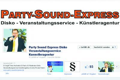 Vorschaubild zur Meldung: PartySoundExpress nun auch bei Facebook