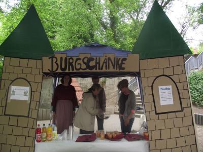 """Foto zu Meldung: Zeitreise der Teupitzer Grundschüler in die Burg """"Teupitz am See"""""""