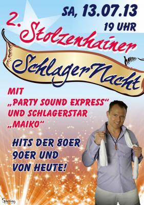Foto zur Meldung: 2. Stolzenhainer Schlagernacht am 13. Juli 2013