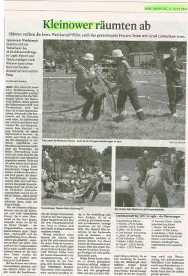 Foto zur Meldung: Kleinower räumten ab