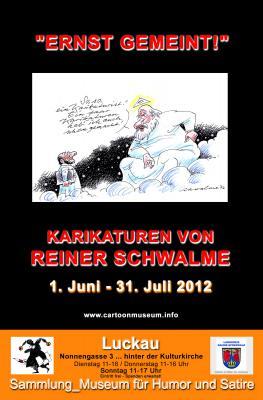 """Vorschaubild zur Meldung: """"Ernst gemeint!"""" _Karikaturen von Reiner Schwalme Jubiläumsschau zum 75. Geburtstag"""