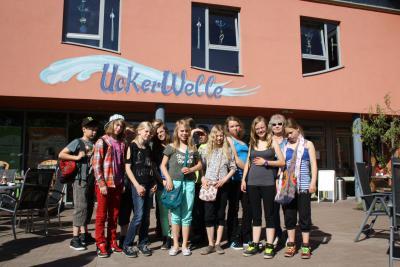 Foto zur Meldung: Klassenfahrt zur Uckerwelle