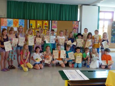 Foto zur Meldung: Die Grundschule ehrte ihre Sieger