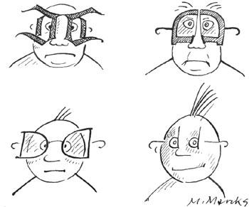 """Vorschaubild zur Meldung: """"DEUTSCH-DEUTSCHE QUERELEN"""" - Karikaturen von Marie Marcks _Special in der Ausstellung """"... museumsreif ..."""""""