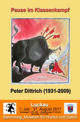 Vorschaubild zur Meldung: Pause im Klassenkampf – Der Zeichner Peter Dittrich (1931-2009) _Jubiläumsausstellung zum 80. Geburtstag