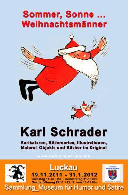 """Vorschaubild zur Meldung: Karl Schrader (1915-1981) - """"Sommer, Sonne, Weihnachtsmänner"""""""