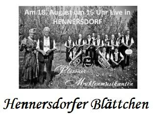 Vorschaubild zur Meldung: Hennersdorfer Blättchen Juli 2013
