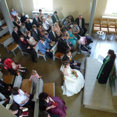 Foto zur Meldung: Singen zur Hochzeit in der St. Kiliankirche in Hilmes