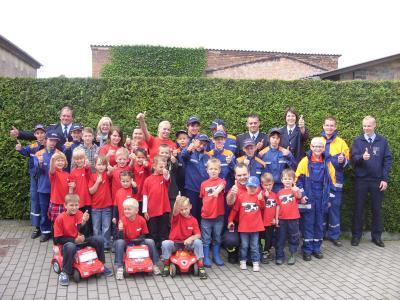 Foto zur Meldung: Eröffnung Kinderfeuerwehr Zerpenschleuse