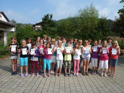 Foto zur Meldung: Die Grundschule ehrte die besten Sportler