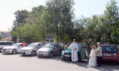Foto zur Meldung: Fahrzeugsegnung in der Pfarrei Prackenbach/Krailing