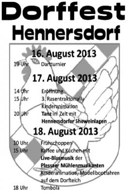 Vorschaubild zur Meldung: Hennersdorfer Blättchen August 2013