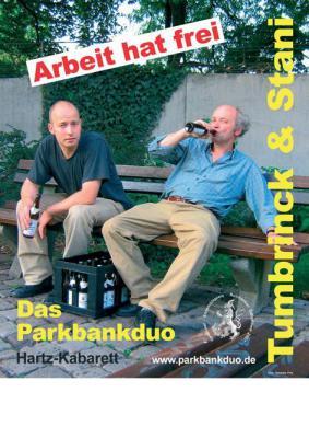 Foto zur Meldung: Kulturbühne Ladbergen - Das Parkbankduo