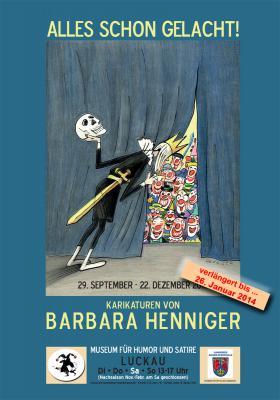 """Vorschaubild zur Meldung: """"ALLES SCHON GELACHT!"""" _Karikaturen von Barbara Henniger"""