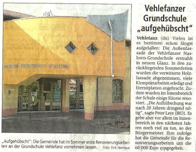 """Foto zur Meldung: Vehlefanzer Grundschule """"aufgehübscht"""""""