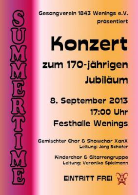 """Foto zur Meldung: Wir feiern den Sommer – Gesangverein 1843 Wenings e.V. präsentiert Konzert """"Summertime"""""""