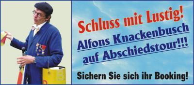 Foto zur Meldung: Alfons Knackenbusch verlässt die großen Bühnen!!!