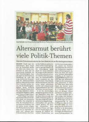 Vorschaubild zur Meldung: Altersarmut bekämpfen - Der AWO Ortsverein Malente hatte zur Podiumsdiskussion eingeladen