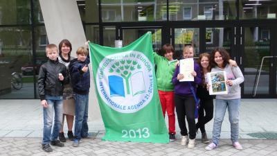 """Foto zur Meldung: 12. Titel """"Umweltschule in Europa"""""""