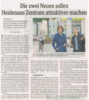 Foto zur Meldung: Sächsische Zeitung: Die zwei Neuen sollen Heidenaus Zentrum attraktiver machen