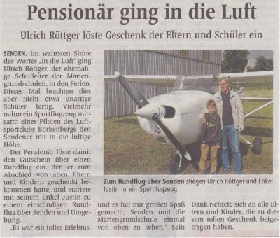 Artikel Westfälische Nachrichten vom 30.10.2013