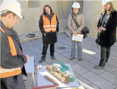 Foto zur Meldung: Ortsgemeinde:Hölzer lassen auf genaue Bauzeit schließen