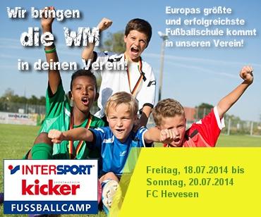 Foto zur Meldung: INTERSPORT kicker Fußballcamp beim FC Hevesen
