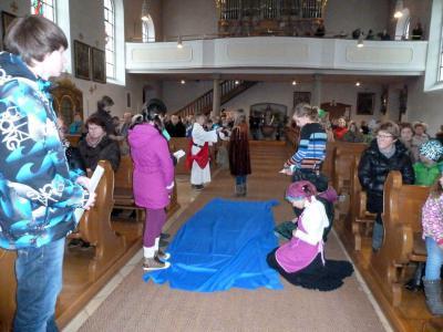 Foto zur Meldung: Auf den Weg zur Krippe – Besuch von Johannes dem Täufer