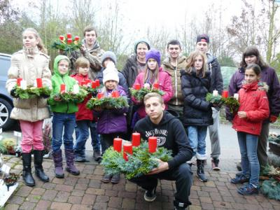 Foto zur Meldung: Weihnachtsbasteltag in der Georg-Hager-Schule