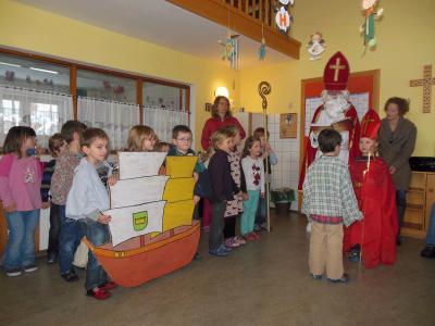 Foto zur Meldung: Der Nikolaus im Kindergarten