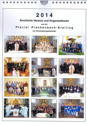 Foto zur Meldung: Kalender der Pfarrei Prackenbach-Krailing für2014