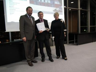(v.ln.r) Landrat Heinz Seiffert, BM Stefan Gerthofer, Architektin Susanne Kletzin