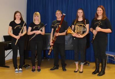 Im Bild von links: Magdalena Leitner, Annika Alefeld, Sebastian Blum, Julia Steidle und Franziska Seitz