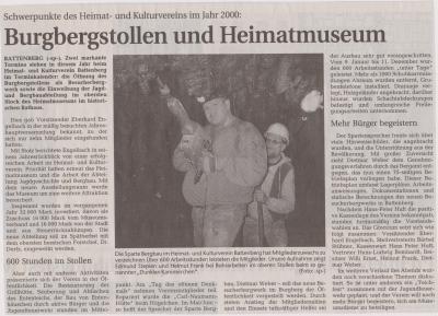 Foto zu Meldung: Burgstollen und Heimatmuseum