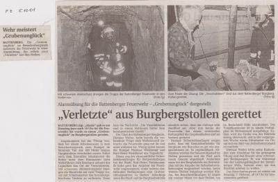 """Foto zu Meldung: """"Verletzte"""" aus Burgbergstollen gerettet"""
