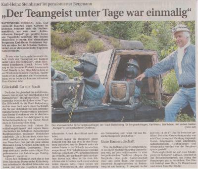 """Foto zu Meldung: """"Der Teamgeist unter Tage war einmalig"""""""