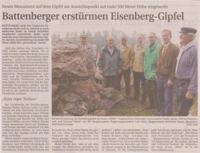Foto zu Meldung: Battenberger erstürmen Eisenberg-Gipfel