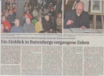 Foto zu Meldung: Ein Einblick in Battenbergs vergangene Zeit