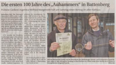 """Foto zu Meldung: Die ersten 100 Jahre des """"Auhammers"""" in Battenberg"""