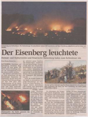 Foto zu Meldung: Der Eisenberg leuchtete