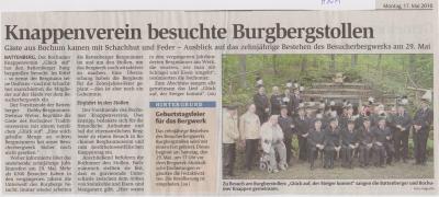 Foto zu Meldung: Knappenverein besuchte Burgbergstollen